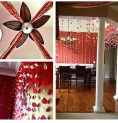Sister's mehndi decor at home