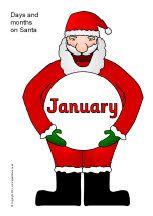 Days and months on Santas (SB9023) - SparkleBox
