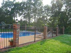 Inground Pool Fence Ideas gallery of attractive pool fence ideas to perfect your pool area Wrought Iron Fences Pool Housespool Ideasswimming