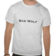 Bad Wolf T-shirts (Doctor Who) #DoctorWho  JUNE 3RD IS BAD WOLF DAY!!!!