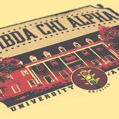 Lambda Chi Alpha - LXA - Stoplight Design - Lambda Chi - Fraternity Tshirts - Check out b-unlimited.com!
