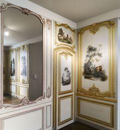 Cabinet des Fables - boudoir de Madame Dangé, boiserie     Paris, 1750-1755