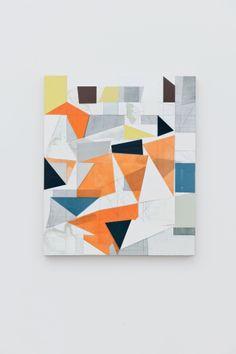 julianminima:  Andrew Bick OGVDS-VAR [compendium] #2,2010 – 2011 acrylic, pencil, oil paint, wax on linen on wood 76 x 64cm