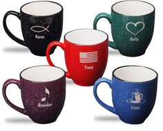 Personalized 14oz. Coffee Mugs! How cute are these? Perfect for a big cup of warm coffee. Only $13.99!