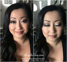 Los Angeles Asian Bridal Makeup Artist and Hair Stylist | Bride Miko | Angela Tam Wedding Makeup Artist Team #EyeMakeupBlue Asian Bridal Makeup, Asian Makeup, Smoky Eye Makeup, Blue Eye Makeup, Eye Makeup Designs, Hair Designs, Bride Makeup Natural, Celebrity Wedding Makeup, Minimal Makeup