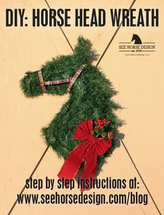 Horse Crafts that are such fun to make. So many fabulous ideas to try. Check out the collection of horse crafts that your friends and family can create. Christmas Wreaths To Make, Holiday Wreaths, Holiday Crafts, Christmas Crafts, Christmas Decorations, Deco Wreaths, Burlap Wreaths, Spring Wreaths, Christmas Christmas