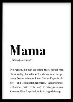 """This is a German definition of the word """"mother"""". Mama Definition, Beste Mama, Collective Consciousness, Short Article, Diy Birthday, Definitions, Philosophy, Words, Quotes"""