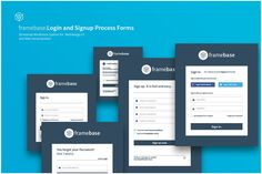 **Framebase Login and Signup Forms for Authentification** Framebase Login System is a front-end friendly, user interface design concept, that comes with full user experience. Form Design, Web Design, 404 Pages, Ui Components, Web Forms, Pricing Table, Grid System, Vector Shapes, User Interface Design