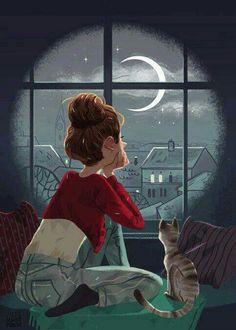 Mirando hacia la luna