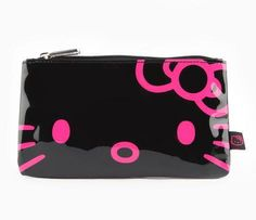 We might need this Hello Kitty black pencil pouch for ourselves.