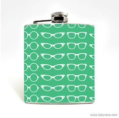 Glasses Flask 6oz Stainless Steel Cats Eye Favor Drinking Gift Girls Retro Wedding