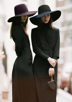 Singing siblings Anna and Sonya Kupriienko, aka The Bloom Twins, channel ladylike chic in pieces from our AW/13 collection.     Wool hat, dr...