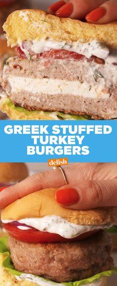 Greek Stuffed Turkey BurgersDelish