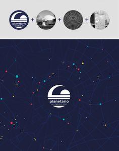 planetarium identity proposal by jimena morgade, via Behance Typography Logo, Logos, Logo Branding, Branding Design, Mg Logo, Logo Tutorial, Planet Logo, Design Graphique, Cool Logo