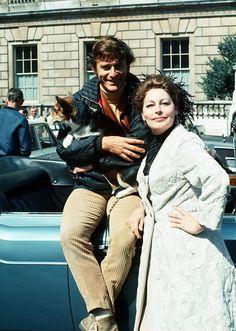 Roddy McDowall and Ava Gardner in London, 1969