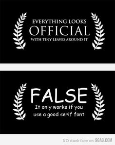 A good font makes everything better!