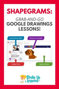 In this post, we'll show you how Shapegrams can challenge students much like a puzzle while also teaching them technology skills. Learn how to use Shapegrams for Grab-and-Go Google Drawings Lessons! | shakeuplearning.com Free Teaching Resources, Teacher Resources, Mobile Learning, Drawing Lessons, Google Classroom, Student Learning, Educational Technology, Elementary Schools, Shake