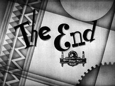 Hello! I must be going! The End | A Night at the Opera, 1935 | Movie typography