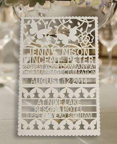 100pcs customer laser cut wedding invitation by WeddingFavorStore