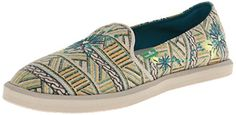 Sanuk Womens Gypsy Rae SlipOn LoaferTeal Multi7 M US * Click image to review more details.