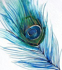 Peacock feather. I could paint this on a gold base canvas.