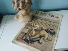 Bekijk dit items in mijn Etsy shop https://www.etsy.com/nl/listing/268674880/le-petit-journal-french-newspaper-29