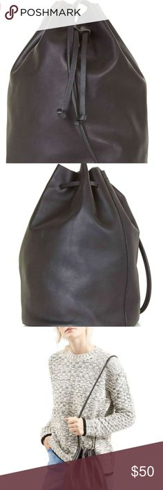 Topshop 'Pisces' Leather Bucket Bag Leather Bucket Bag. Real leather. Suede inside and comes with a coin purse. Topshop Bags Shoulder Bags