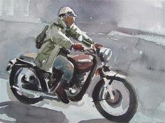 "Daily Paintworks - ""motard"" - Original Fine Art for Sale - © gilles Poulizac"