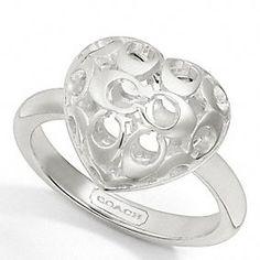 Sterling Puffy Miranda Heart Ring