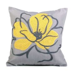 Figaro Crewel Flower Cushion | Dunelm