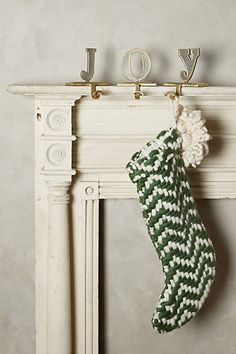 Monogram Marquee Stocking Holder #anthropologie