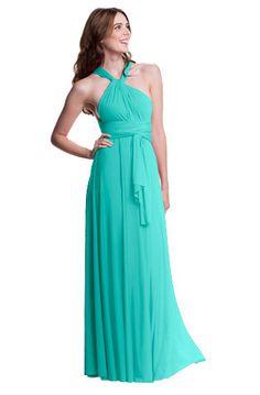 Sakura Convertible Long Gown - Robin's Egg $168.00 Henkaa Convertible style. Order at us.henkaa.com/karib and use stylist ID 1026