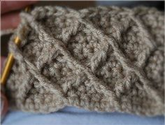 honeycomb lattice crochet stitch