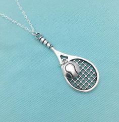 Tennis Racket & Ball Necklace