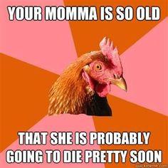 Anti-joke Chicken meme