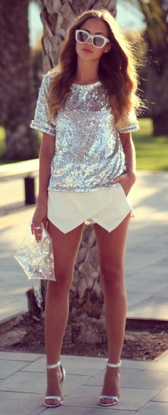 white + sequins