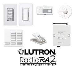 Lutron RadioRA system. I want this. Just the top pair on the left, none of the other weird stuff. Apparently it's super easy to install and not expensive!