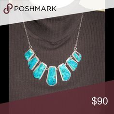 Sterling silver and turquoise statement necklace Sterling silver and turquoise statement necklace Just Kuz Jewelry Jewelry Necklaces