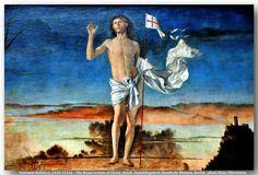 Giovanni Bellini (c. 1430 – 1516) oil on canvas (148 × 128 cm) — Resurrection of Christ 1475-79 Oil on panel transferred to canvas, 148 x 128 cm  Gemäldegalerie der Staatlichen Museen, Berlin (detail)