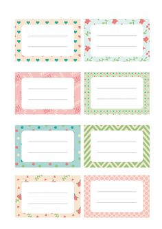 Discover recipes, home ideas, style inspiration and other ideas to try. Free Printable Tags, Printable Planner, Planner Stickers, Free Printables, School Labels, Label Templates, Note Paper, Sticky Notes, Journal Cards