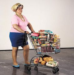 Duane Hanson, Supermarket Shopper, 1970 ©