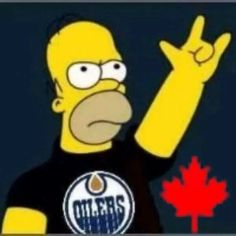 Edmonton Oilers, Fun Games, Nhl, Hockey, Homer Simpson, Earth, Humor, Workout, Country