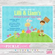 Easter Kids Personalized Party Invitation