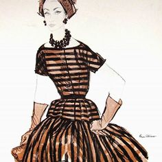 #Repost @delhispearman One of the wonderful fashion illustrations by Brian Stonehouse (1918-1998). Painter and Special Operations Executive agent during WWII. #1960sfashion #fashion #brianstonehouse #soe #specialoperationsexecutive