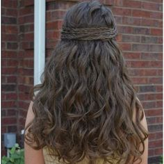 Cool Long Messy Curly Brown Homecoming and Prom Hairstyle - Homecoming Hairstyles 2014