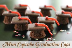 mini cupcake graduation caps