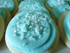 Sour Cream sugar cookies with peppermint buttercream