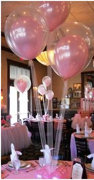 Use tulle for the string hanging from balloons!