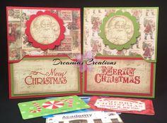 Set of 2 Vinatage Handmade Christmas Gift by DreamiasCreations
