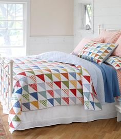 L.L.Bean Flying Geese Quilt and Sham